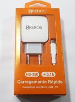 carregador Hs-350 compativel com micro usb v8 - Hrebos