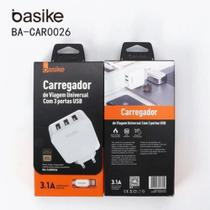Carregador Iphone Usb 3 Portas Basike