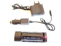 Carregador Lanterna Tática Com Baterias 26650 4.2v Rápido - X900