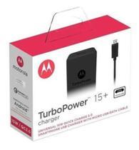 Carregador Moto Turbo Power Original Selo Anatel - Motorola