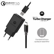 Carregador Motorola Turbo Power Usb-C Tipo-C Moto One Z Z2 Z3 Play X4 M G6 G6 Plus G7 G7 Power M140114 -