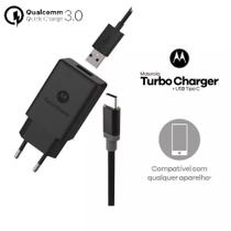 Carregador Motorola Turbo Power Usb Tipo C Moto One Z Z2 Z3 Play X4 M G6 G6 Plus G7 G7 Power M14106 -