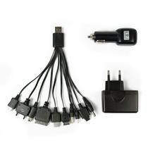 Carregador Multifunção USB c/ Adaptador para Carro e Tomada Charger Duo UC-200 - C3 Tech -