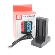 Carregador Nintendo Switch Joy-con 4 Controles Estação Base - Mimd