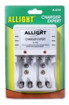 Carregador P/ Pilha Recarregavel Aa/ Aaa/ Bateria 9v Bivolt - Allight