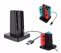 Carregador Para Joy-con Charge Stand Nintendo Switch 4in1 - Oivo