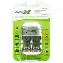 Carregador Pilhas Recarregavel Aa/Aaa/Bat 9v Fx-c03 Flex - inmetro - X-Cell