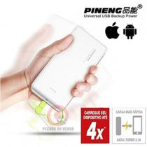 Carregador Pineng Pn951 Branco C Adaptador Iphone 5/6/7