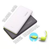 Carregador Pineng Power Bank 10.000 Mah Pn-951 Slim Original Universal
