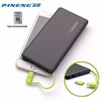 Carregador Portatil Celular 10000mah Bateria Externa Pineng Preto -