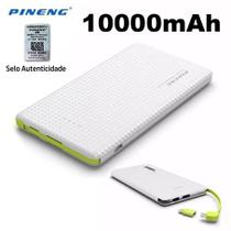 Carregador portatil pineng 10.000mah slim branco compativel iphone 7 plus - Pining
