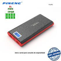 Carregador Portátil Pineng 20000mah Modelo PN-920 P/ Celular Carrega Tablet Som Usb Game Câmeras Preto -