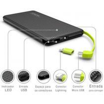 Carregador portatil pineng 5000mah slim preto compativel iphone 6s plus -