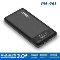 Carregador portatil pineng power bank pn961 10.000mah preto