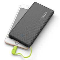 Carregador Portátil Power Bank Pineng 10000mah Preto e Verde