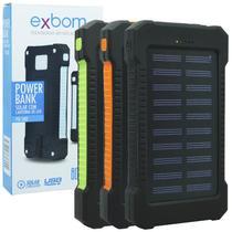 3b921d0207f Carregador Portátil Power Bank Solar Bateria 8000 mAh Celular 2 x Usb Exbom  PB-S80