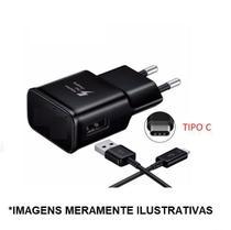 Carregador PRETO - TIPO C Compativel Com Galaxy s8,s8 plus, s10, s10 plus - Sef Eletro