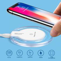 Carregador Qi Wireless S/fio Celular Universal Branco - Fantasy