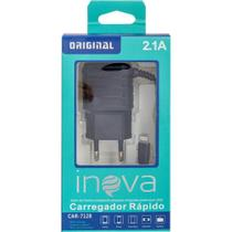 Carregador Rápido 2.1 A Inova iPhone Preto Car7128