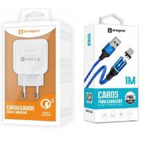 Carregador Rápido + Cabo Magnético Para Celular I Phone I6, i6 Plus 7, X,10 - Sumexr