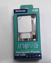 Carregador Rápido Celular Android Usb V8 Original Inova 4.8A -