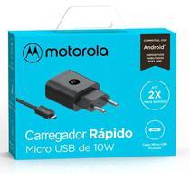 Carregador Rápido Motorola 10w Moto G5 Plus Garantia Resistente Carga Rápida Original Micro Usb -