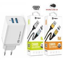 Carregador Rápido Original Sumexr + 2 Cabos Magnético Samsung S8, S9 S10 -
