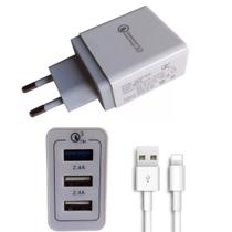 Carregador Rápido Turbo IPhone 5 5s 6 6s 7 8 X Xr 11 3 USB - Universal