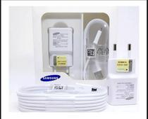 Carregador Samsung Fast Charge Rápido Galaxy Turbo 2.0 + Cabo V8 (Branco) A10 A10s A01 A01Core -