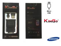 Carregador Samsung Original Galaxy J1 J2 J3 J4 J5 J6 J7 KinGo mais cabo de dados Preto -