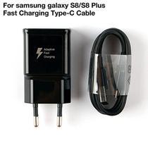 Carregador Samsung S8 S8 Plus com entrada Type C - Preto -