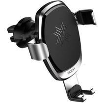 Carregador Sem Fio Com Suporte Veicular Por Indução ROCK Qi 10W QC 3.0 Gravity Para Saida de Ar -