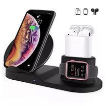 Carregador Sem Fio Fast C/ Suporte 3-1 iPhone,AirPods,watch lançamento - Fast Charge