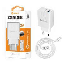 Carregador Turbo 3A + Cabo V8 Original Sumexr Quick Charge 3.0 Para Celular Huawei, Alcatel, Positivo -