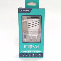 Carregador Turbo INOVA para diversos celulares Micro USB Para Moto G5, G5 Plus, E4, E4 Plus, G5s, G5s G6 Plus -