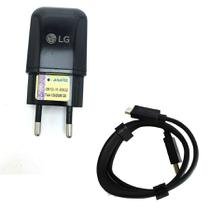 Carregador Turbo Lg Fast Charge 2 In 1 LG K8 K10 K11 Preto - Import