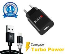 Carregador Turbo Qualcomm 4.0 + Cabo Turbo Lightning Para iPhone 7-8 / 11-12 / X-XR - HRebos