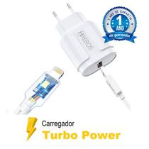 Carregador Turbo Qualcomm 4.0 + Cabo Turbo Power Para iPhone 7-8 / 11-12 / X-XR - HRebos
