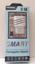 Carregador Turbo Smart 3.1a Rápido 2 Usb V8 Smartphone -