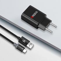 Carregador Turbo USB Para Samsung Xiaomi Motorola e LG + Cabo Tipo C. - Hrebos