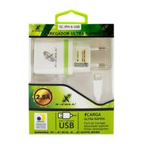 Carregador Ultra Rápido 2.5A Para Iphone 5 6S Plus 7 8 ANATEL - X-cell