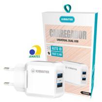 Carregador Universal Dual USB Fast 3.4A com Auto ID Kimaster TO350X -