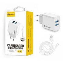 Carregador Universal Fonte + Cabo Original Sumexr Tipo C Para Celular Huawei, Alcatel, Positivo -
