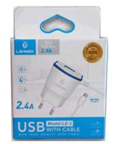 Carregador V8 COM SAIDA USB LEHMOX 2.4A -