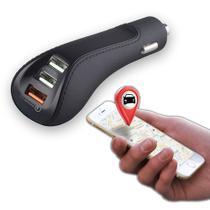 Carregador veicular com localizador via GPS Car Locator 6.4 Preto  Easy Mobile -