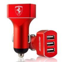 Carregador Veicular Ferrari 3 Entradas USB -