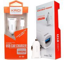 Carregador Veicular IOS Usb Kd-501 Carga Rapida - Kaidi -