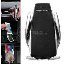 Carregador Veicular por Indução Sem Fio Wireless Suporte Automático com Sensor 7.5w Qi S5 - Smart Sensor