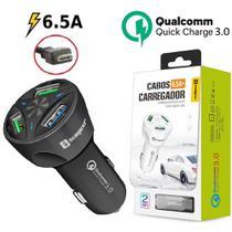Carregador Veicular Turbo V8 Sumexr Para Celular Samsung S6, S6 Edge, S7, S7 Edge -