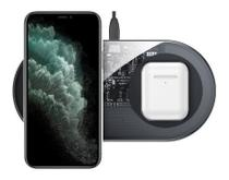 Carregador Wireless 2em1 iPhone 11 Pro Max AirPods Baseus